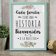 CUADRO - CADA FAMILIA TIENE UNA HISTORIA, BIENVENIDOS A LA NUESTRA