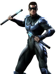 Nightwing: When his circus acrobat family was brutally murdered, Dick Grayson was taken in by billionaire and bat-friendly super hero Bruce Wayne. Bruce shared his secret life as Batman with the young boy and eventually molded him into Robin—the Dark Knight's partner in Gotham.