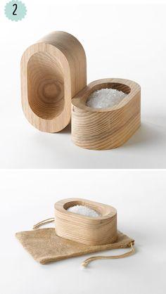 Productos de #madera molones. #wood #saltcellar