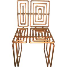 A Sculpture Chair in Copper Pipe by TJ Volonis, USA 2005