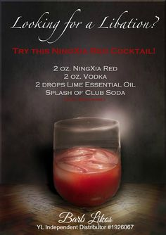 Awesome drink using #YoungLiving Ningxia Red and Lime #essentialoils https://www.facebook.com/essentialdropsofglory