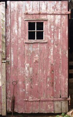 Pink Barn Door perfection.