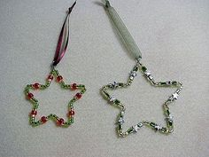 How to Make Beaded Star Ornaments