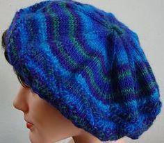Mochi Plus Diagonal Stitch Tam - Crystal Palace Yarns - free knit hat pattern