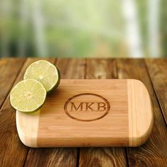 For the merrymaker who has everything—except a monogrammed bamboo cutting board. | Personalized Gift Bamboo Bar Board | @wayfair