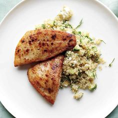 Protein will keep you full longer, and this recipe has two lean sources of it.