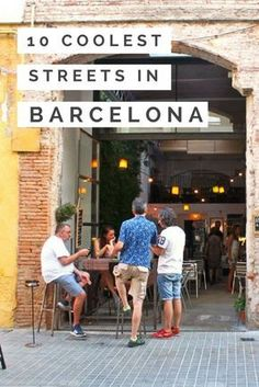 Take your trip with Glamulet charmsThese are the 10 legitimately coolest streets in Barcelona, where you're practically guaranteed a good time - and NO, the Ramblas isn't one of them! European Vacation, European Travel, Barcelona Spain Travel, Barcelona Tourism, Barcelona Bars, Barcelona Street, Shopping In Barcelona, Barcelona Food, Visit Barcelona