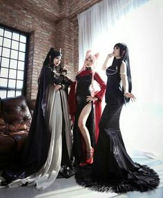 Sailor Moon Group Cosplay. Wicked / Black Lady, Mistress 9 and Queen Nehelenia