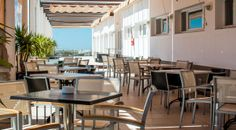 Terraza Hotel ATH Al-Medina Wellness 4 estrellas en Medina-Sidonia, Cádiz, España.
