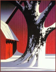 Ruby - Eyvind Earle Id like to paint something similar to this it would go well with the theme in my room.
