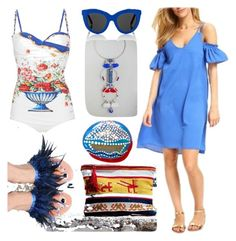 """#GreekSummer"" by harikleiatsirka on Polyvore featuring Marysia Swim and Victoria Beckham"
