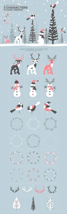 Christmas vector graphic pack #design #deals #photoshop #graphic