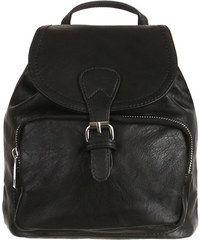 YooY Dámský koženkový batůžek (černá)
