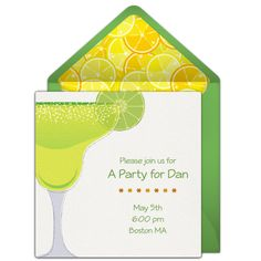 Customizable Free Margarita Toast Online Invitations Easy To Personalize And Send For A Party