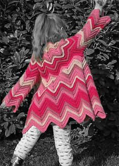 I love this little girl zig-zag crochet dress