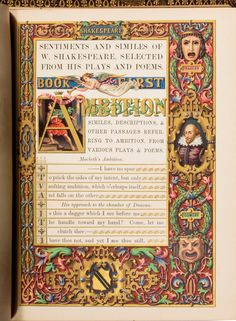 William Noel Humphreys' Sentiments and Similes of William Shakespeare, published in London in 1851