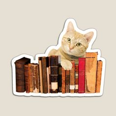 Old Books, Tiger, Bookends, Stickers, Yellow, Cats, Designs, Products, Magnets