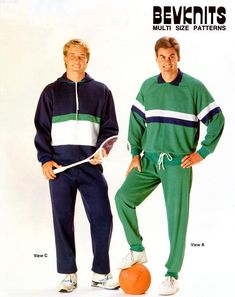Bevknits Men's Track Suits or Pyjamas with or without Hood and Zipper, Uncut, Factory Folded Sewing Pattern Multi Size Track Suits, Pyjamas, Casual Wear, Activewear, Sewing Patterns, Zipper, Swimwear, How To Wear, Fashion