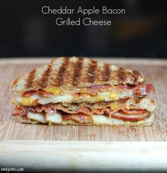 Cheddar Apple Bacon Grilled Cheese - Emily Bites
