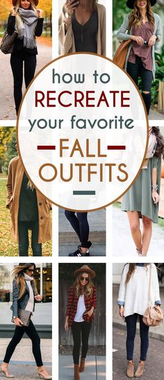 15 Of The Best Fall Outfits To Copy Right Now - I love all of these outfits! They're the most popular fall outfits on Pinterest, and on the internet at that! You can easily recreate these fall looks too with just a couple staple fall clothes as well!