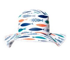 NEW PRODUCT The Funky Bucket by Swimlids Fish Print size Large. Sun  Protection HatKid ... f59e8baa4505