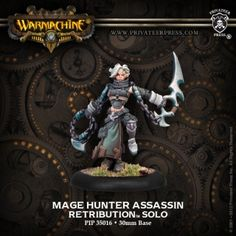 Mage Hunter Assassin #WARMACHINE #Retribution #Scyrah #PrivateerPress #solo #miniatures #wargames #steampunk