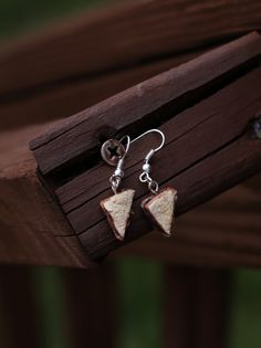 Look at these Peanut Butter and Jelly Sandwich Dangle Earrings by CuteandTinyThings, $8.50