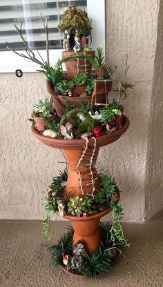 Fairy Garden In A Pot Broken pot fairy garden video tutorial fairy gardens and nice my fairy garden workwithnaturefo