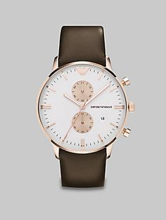 Emporio Armani Two-Eye Chronograph Watch