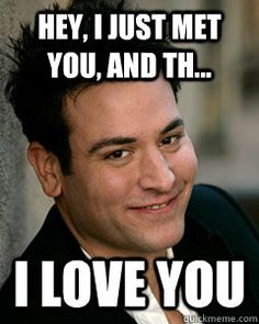 hey i just met you and th i love you - Ted Mosby