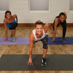 This 15-minute sweat session mixes cardio bursts with strength training to double the benefits of your workout. Grab a dumbbell between five and 10 pounds, press play, and then bring it!