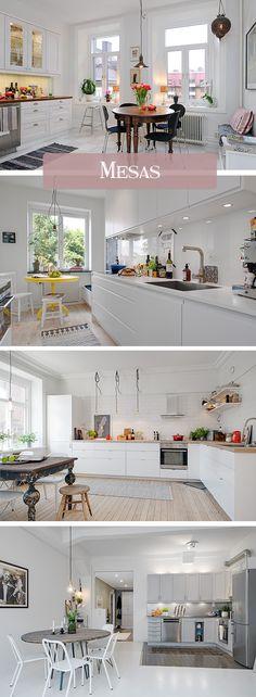 Una cocina nórdica mola... pero si ya tiene algún toque vintage nos roba el…