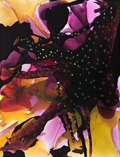 Sucker - Lara Merrett,2010, synthetic polymer paint, ink & vinyl on linen, 240 cm x 183 cm