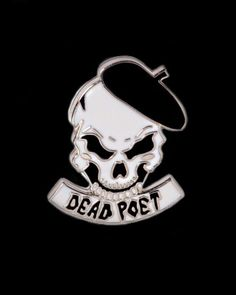 Dead Poet pin from @poorlilwitchgirl x @blankcanvasgallery Dead Poet is an open mic spoken word event targeted at bringing youth of diaspora together. Blank Canvas Gallery is an inclusive space and is open to ALL ethnicities races genders and sexual orientations. Available to purchase through @blankcanvasgallery's link in bio!