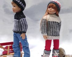 "THIS LISTING IS FOR ONE DIGITAL PDF VERSION OF THE PATTERN ONLY NOT THE OUTFIT  Designed to fit: Slim 18"" all vinyl dolls like my model Lena, from the Kidz 'n' Cats series with a head circumference of 11""(28 cm) Urban, a textured ribbed stitch hooded jacket for dolls, inspired by today's fashion trends and the desire to create a unisex jacket for my 18"" slim all vinyl dolls, Alister and Lena from the Kidz n Cats series  A perfect addition to your doll's seasonal wardrobe, for exploring the…"