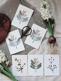 Flowers Postcard Set