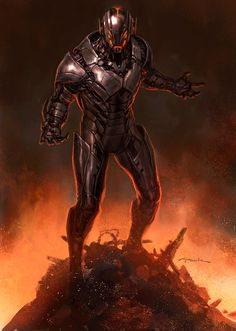 Avengers Age of Ultron Andy Park Concept Art 5 Avengers: Age of Ultron Concept Art Reveals Alternate Ultron Designs Age Of Ultron, Ultron Marvel, Marvel Villains, Marvel Comics Art, Marvel Fan, Marvel Characters, Marvel Concept Art, Concept Art World, Comic Books Art