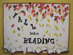 Fall into Reading bulletin board
