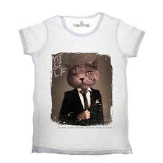 T-shirt gatto Available on www.manymaltshirt.com