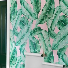 The Emily & Meritt Palm Leaf Surestrip Wallpaper #pbteen