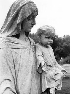 mother Mary and child Jesus. His little face here reminds me of my son.