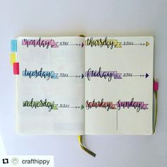 Super fun and simple #handlettering #headers from @crafthippy. #Repost…