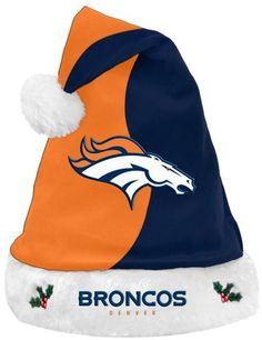 Revel this Christmas holiday season in true professional football fan fashion with the NFL Basic Santa Hat. Festive Santa hat design features your favorite gridiron team's colors and graphics. One size fits most ages 5 and up. Bronco Car, Sports Team Apparel, Nfl Arizona Cardinals, Denver Broncos Football, Nfl Philadelphia Eagles, Hats Online, Santa Hat, Spirit