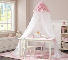 Make teatime whimsical with this ruffled pink canopy ($139). Itu0027s also a fitting & Monique Lhuillier Blush Petal Canopy | Pottery Barn Kids ...
