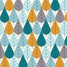 Bio-Baumwollstoff - Octoberama Blue von Birch von FRIEKE fabrics auf DaWanda.com