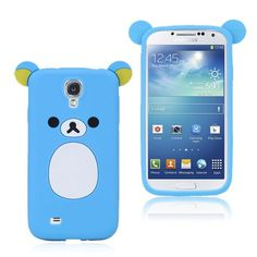 Cute Bear (Blå) Samsung Galaxy S4 Deksel