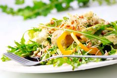 Greens with Sprouts & Honey Mustard Dressing