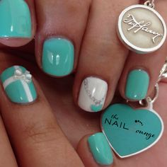 Tiffany gel nail art design by @The_Nail_Lounge_miramar