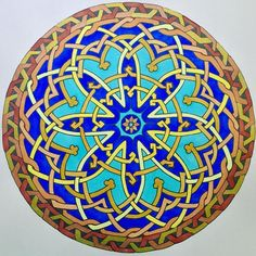 """Sunday Morning Star Mandala do livro """"Mandalas de Al Andaluz"""" #sunday #morning #star #sundaymorning #art #artoftheday #adultcoloringbook #adultcoloring #alandaluz #becreative #colorful #coloring #coloringbook #coloringbookforadults #design #drawing #doodle #livrodecolorir #mandala #mandalaart #mindfulness #yoga #zentangle #zen"""