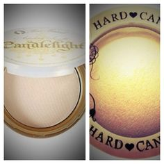 "Beautiful warm candlelight glow dupe~ Hard Candy- so baked bronzer in ""Tiki"" $9.00 VS amazing but EXPENSIVE Too Faced- absolutely invisible  ""Candlelight"" $30.00."